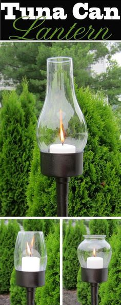Repurpose trash with this easy to make outdoor tuna can lantern. It can be made with many variations.