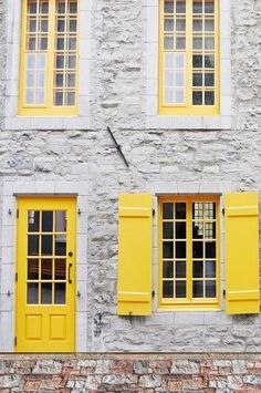 6259 Canary Yellow Door Open Shutter Window Backdrop