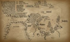 D&D Campaign Map by @evilseedlet