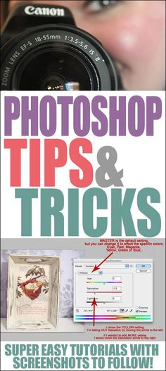 Photoshop tips and tricks! Make your good photos look great with easy screenshot tutorials to help you through the steps.