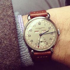 HODINKEE — 1940s #Vacheron triple calendar back on my wrist...