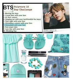"""""""BTS Polyvore 10 Day Challenge: Day 7"""" by carol-comt ❤ liked on Polyvore featuring Post-It, Hermès, Disney Stars Studios, Dakine, Christian Dior, MAC Cosmetics, Gucci, Tiffany & Co., NARS Cosmetics and Eos"""