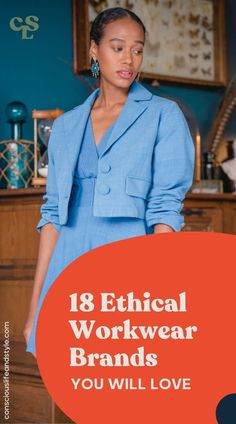 Finding dress-code compliant workwear that you actually enjoy wearing is already a struggle. This collection of brands with ethical workwear, includes structured button-ups and blazers, well-fitted trousers, silky blouses, pencil skirts, and sheath dresses—for any woman seeking office-appropriate pieces. #ethicalfashion #ethicalworkwear #ethicalworkclothing Sustainable Style, Sustainable Fashion, Workwear Brands, Brand Guide, Ethical Fashion Brands, Fair Trade Fashion, Sheath Dresses, Pencil Skirts, Slow Fashion