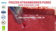 Sinofrost - Frozen Strawberry Puree - Frozen Strawberries Puree Strawberry Puree, Frozen Strawberries, Food, Eten, Meals, Freezing Strawberries, Diet