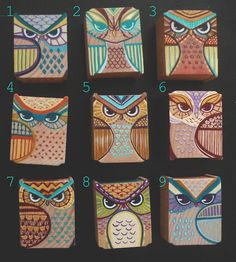 Love the owls and the idea of painting on blocks of wood
