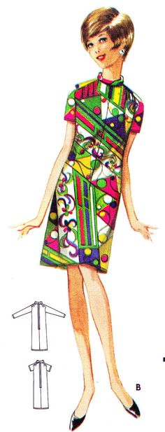 1960s Dress Pattern Butterick 4576 Jean Muir Mod by paneenjerez, $14.00