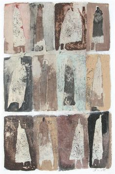 Original art for sale at UGallery.com | Them by Scott Bergey | $250 | mixed media artwork | 12' h x 9' w | http://www.ugallery.com/mixed-media-artwork-them