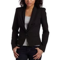 Necessary Objects Junior's Strong Shoulder Jacket,Black,Medium (Apparel)  http://www.picter.org/?p=B0038HFGAQ