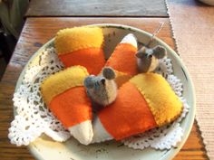 Primitive bowl fillers Fall Halloween Candy by primpennystitches