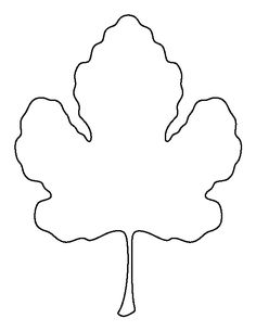 Fig leaf pattern. Use the printable outline for crafts, creating stencils, scrapbooking, and more. Free PDF template to download and print at http://patternuniverse.com/download/fig-leaf-pattern/