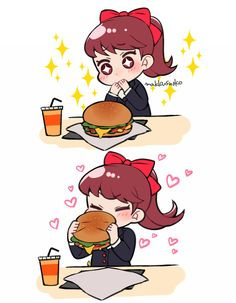 Her and her burger   Megami Tensei - Persona   Know Your Meme