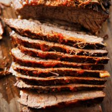 Sweet and tangy, this Slow Cooker Brisket is a classic! Its largely hands-off cooking makes this a breeze to put together. It's perfect as a holiday centerpiece, in tacos, as a hash, and so many other ways! We also share how to make it in the Instant Pot, too! Gluten Free Pumpkin Bread, Gluten Free Sugar Cookies, Sugar Free, Southwest Chicken Soup, Homemade Almond Butter, Lexi's Clean Kitchen, How To Cook Brisket, Slow Cooker Brisket, Salads