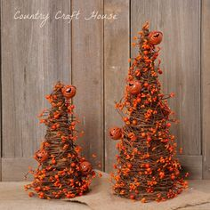 Primitive Country Halloween Fall 2 Grapevine Orange Berry Garland Tree Twig Cone in Home & Garden, Holiday & Seasonal Décor, Halloween Grapevine Garland, Berry Garland, Primitive Fall, Primitive Country, Halloween Girlande, Holiday Tree, Holiday Decor, Holiday Ideas, Country Halloween