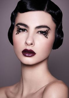 Notes for MUAH: I definitely want to use some funky high fashion lashes, including ones that may have feather or glitter, etc. We can also makeshift our own.
