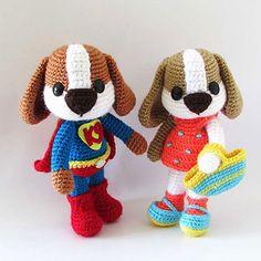 K9 Superhero & KT amigurumi pattern by Tales of Twisted Fibers