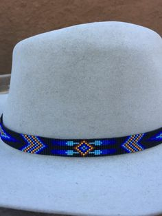 9946d86a219e6f This Beaded Geometric Design Hatband is Handmade by the Artist with great  love and patience.