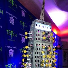Cake pops displayed in Empire State Building replica at Cirque du Soleil #Totem premiere