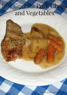 Do It All Working Mom - Easy crock-pot pork chops and vegetables