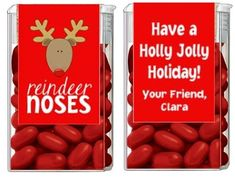 I should try to make these next year. Christmas Tic Tacs - Reindeer Noses