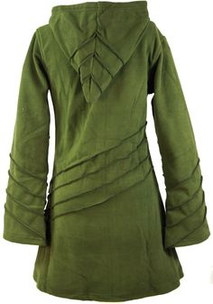 Goa Fleece Jacke mit Zipfelkapuze olive | eBay
