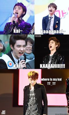 Kyungsoo is looking for his Kai.. | allkpop Meme Center