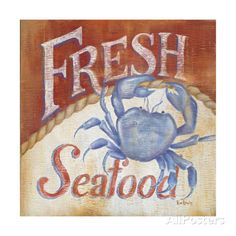 Fresh Seafood Prints by Kim Lewis at AllPosters.com