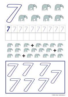 lära sig räkna, räkna, matte, räkna till tio, pyssla och lek, bättre hälsa, pyssel för barn, barnpyssel, matte, matematik, mattepyssel, pyssel, knep och knåp, räkna till 7, sju Preschool, Education, Words, Children, Young Children, Boys, Kid Garden, Kids, Kindergarten
