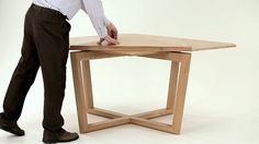 SEER table in oak - amazing expanding table.  Also beautiful round expanding tables.