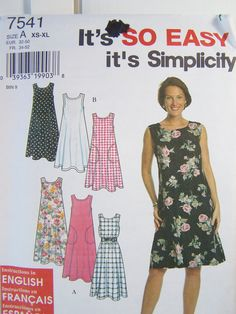 Simplicity 7541 Dress Sewing Pattern Misses by WitsEndDesign