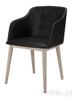 Krzesło CORPUS czarne, biało-szare, eko skóra, drewno, 22114-1
