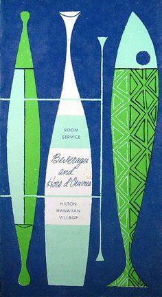 Vintage menu cover