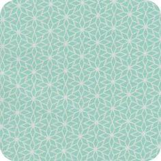 Tissu Nordic star mint