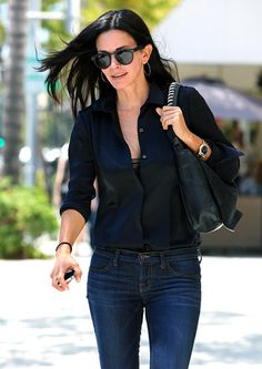 Courteney Cox grabbed lunch at La Scala in Beverly Hills July 17