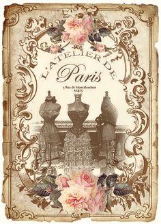 umla:  (via Free digital vintage Paris Labels…32 of them, … | ~༺✿ French An…)