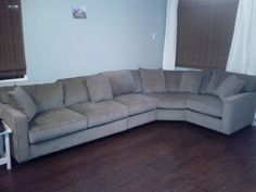 New #gray #sectional from Larry St John in Gardena. Now to really decorate this room...