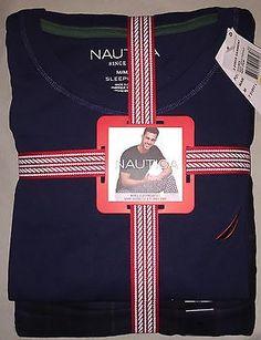 414a35dffe Mens m nautica plaid flannel pajama pants t shirt set nwt