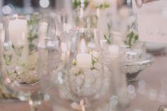 Centros mesa boda blancos velas