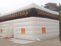 inflatable cube with logo