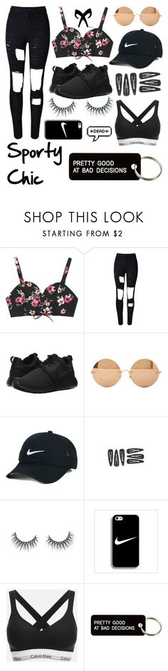 """Sporty Chic"" by elleigh213 ❤ liked on Polyvore featuring NIKE, Victoria Beckham, Rune NYC, Unicorn Lashes, Calvin Klein and Various Projects"
