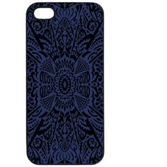 Samantha Warren London Astoria Blue Phone Case ($24) ❤ liked on Polyvore featuring accessories, tech accessories, phone cases, phones and blue