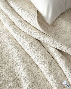 Like this neutral coverlet from Garnet Hill for the bedroom renovation *someday*
