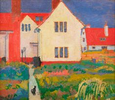Harold Gilman's House at Letchworth by Spencer Frederick Gore (1878-1914, United Kingdom)