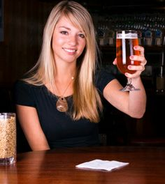 woman and craft beer