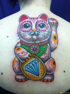 lucky cat tattoo - Google Search