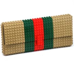 Tribute to Gucci - clutch made entirely of LEGO bricks by agabag on etsy