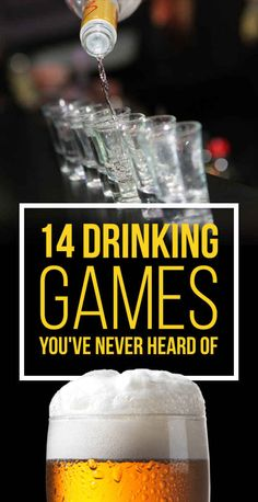 14 Insanely Fun Drinking Games You've Never Heard Of...people always ask me about drinking games and I never know any. This should help!