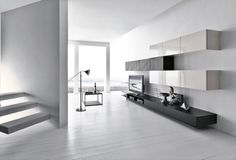 Modern living room is no longer just a part of the house but it is the most essential and active area. 50 modern living room furniture design ideas by Presotto. Tv Design, Tv Wall Design, House Design, Design Ideas, Living Room Tv Unit, Living Room Modern, Modern Tv Wall Units, Wall Unit Designs, Room Furniture Design