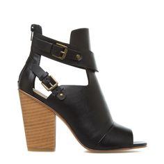 Lorika - ShoeDazzle - Peep-toe bootie bliss!