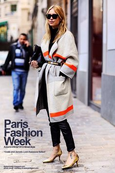 Paris Fashion Week Autumn-Winter 2014 Street Style - Coats and Jackets Look Awesome Belted | Style Fashion Week
