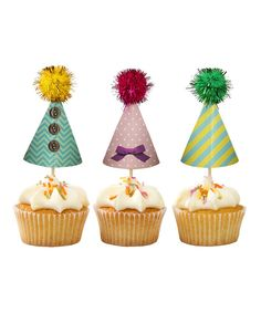 Look at this #zulilyfind! Frills & Frosting Cupcake Hat Topper - Set of 48 by Talking Tables #zulilyfinds